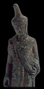 Particolare del bronzetto al Museo Etrusco Gregoriano c/o i Musei Vaticani, Roma.