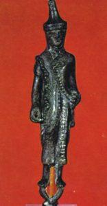 Bronzetto al Museo Etrusco Gregoriano c/o i Musei Vaticani, Roma.