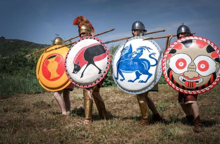 Opliti etruschi in guerra