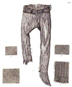 Pantaloni da Thorsberg ( Germania) IV d.C.