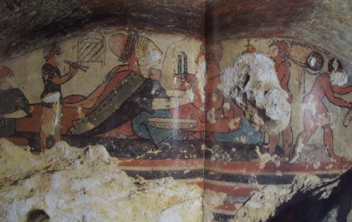 Tomba della Caccia e della pesca. Tarquinia