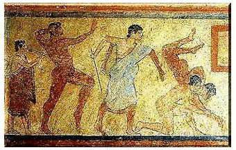 Tomba dei Giocolieri. Tarquinia 510 a.C.