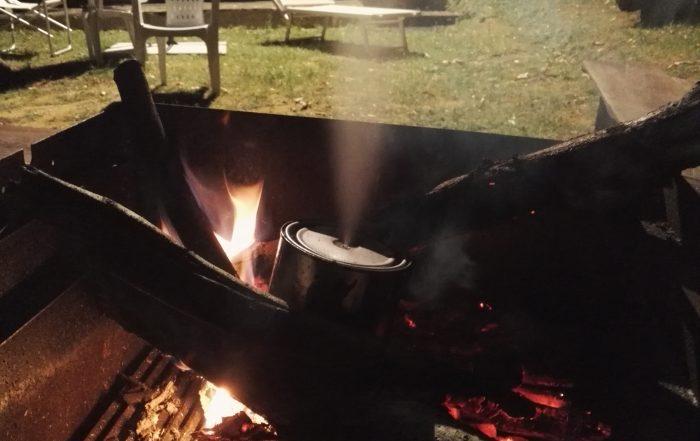 Feccia che brucia in assenza di ossigeno
