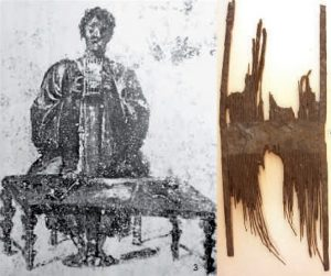 1 Pompei.Cardatore; 2 per cardare. Reperto Pettine Romano per cardare, Magdalensberg, Austria