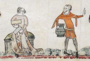 Cardatura.The Smithfield Decretals (Brit. Lib. Royal 10 E IV), c. 1300-1340_ F140V