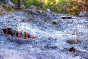Fuochi perenni sul Monte Chimera, Adalia,Turchia.