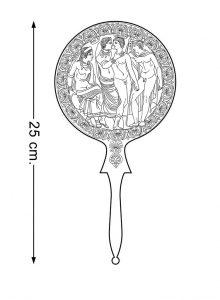 Disegno dello specchio di Berlino, Staatlische Museum 3386 (Fr. 70). Seconda metà del IV secolo a.C.