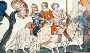 Ailettes 1275-1325 From South France. BL Royal 10 E IV Decretals of Gregory IX - Folio 305 - British Library
