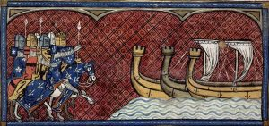 Ailettes. 1332-1350 France. BL Royal 16 G VI Chroniques de France ou de St Denis - Folio 373- - From Paris, France- British Library