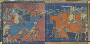 Ailettes. 1335 France BNF Arsenal 5080 Speculum Historiale - Folio 368v - From Paris, France - Bibliothèque Nationale