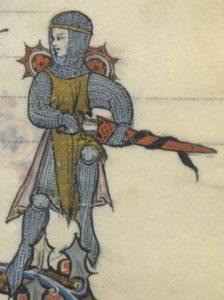 Ailettes 1280-1290 From North France .BNF Français 95 Histoire du Saint Graal Histoire de Merlin- Folio 291r-m2, Bibliothèque Nationale, France