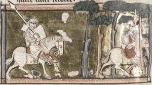 Ailettes. 1300-1325 France . Bodley Ashmole 828 Lancelot Cycle - Folio 53v - Bodleian Library