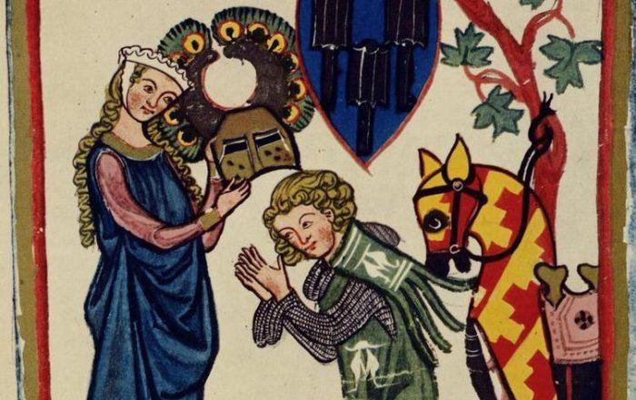 Ailettes. 1300-1340 Codex Manesse - Folio 82v - UBH Cod. Pal. germ. 848 - FromZürich, Switzerland- Heidelberg University Library